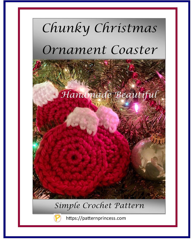 Chunky Christmas Ornament Coaster 1