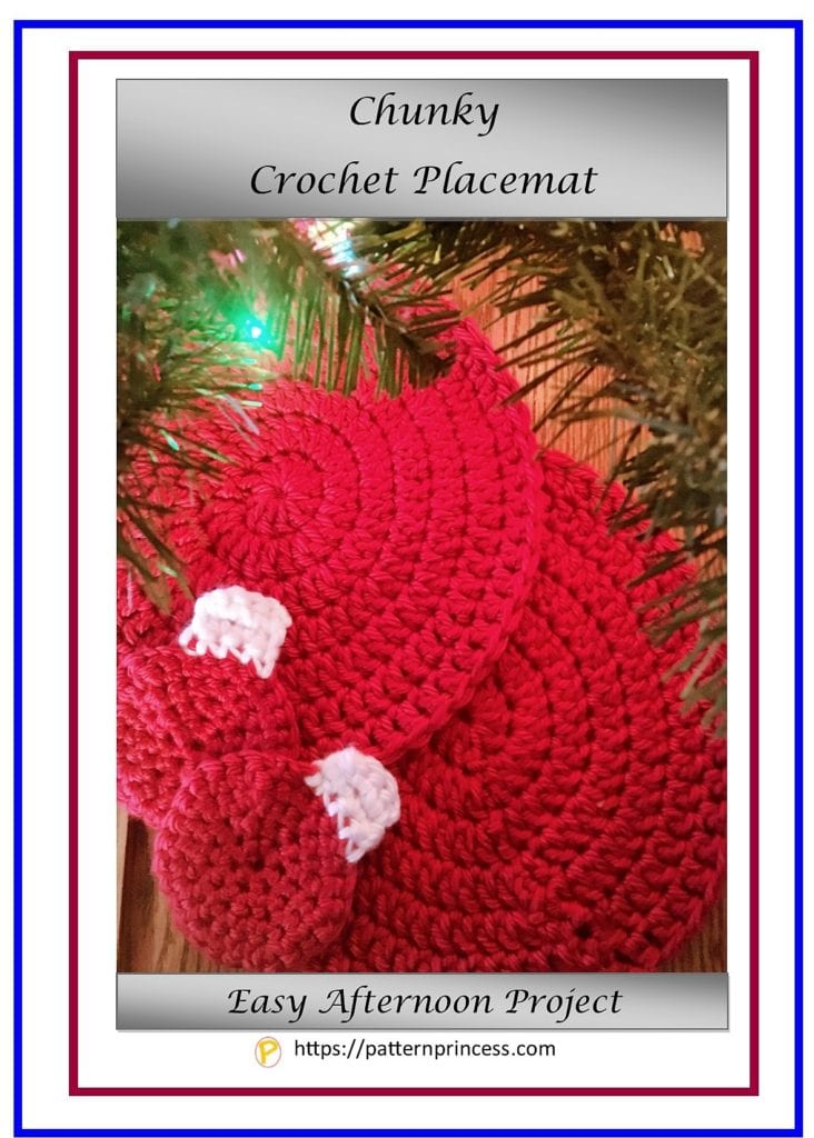 Chunky Crochet Placemat 1