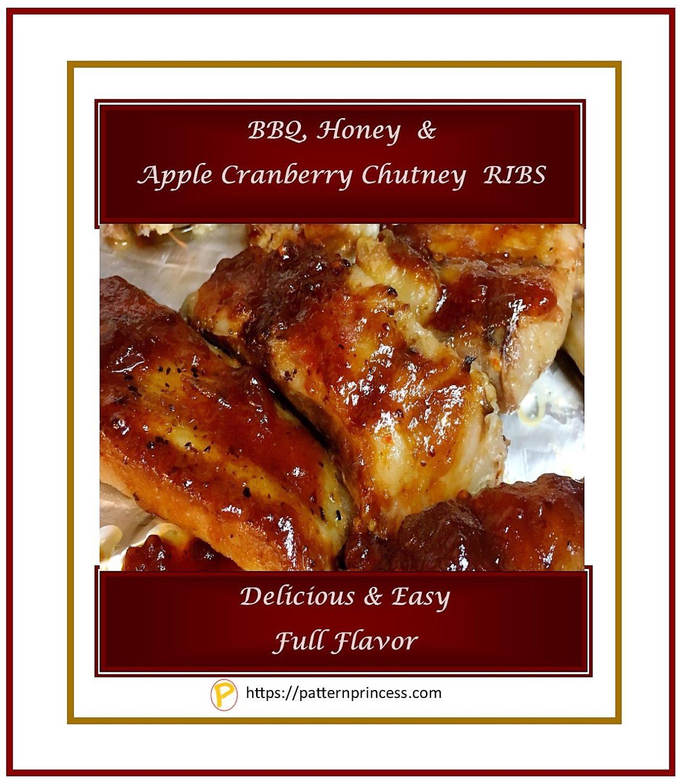 BBQ Honey Apple Cranberry Chutney RIBS 1
