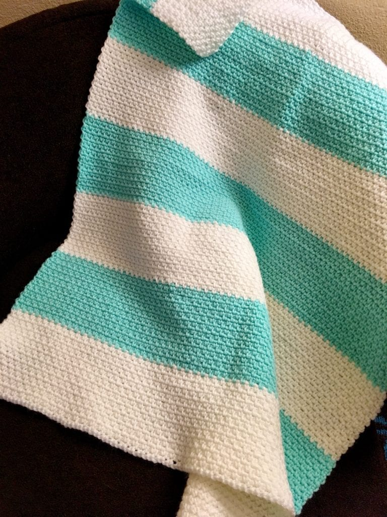 Finished Linen Stitch Baby Blanket