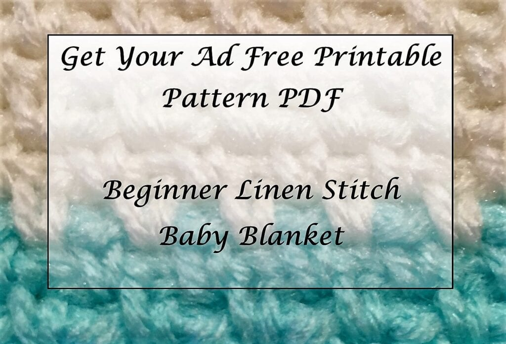 Beginner Linen Stitch Baby Blanket Printable PDF