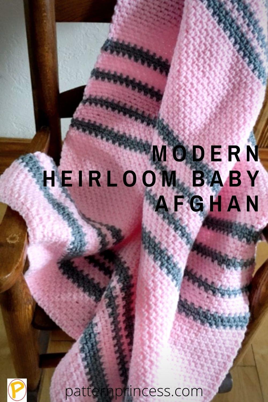 Modern Heirloom Baby Blanket
