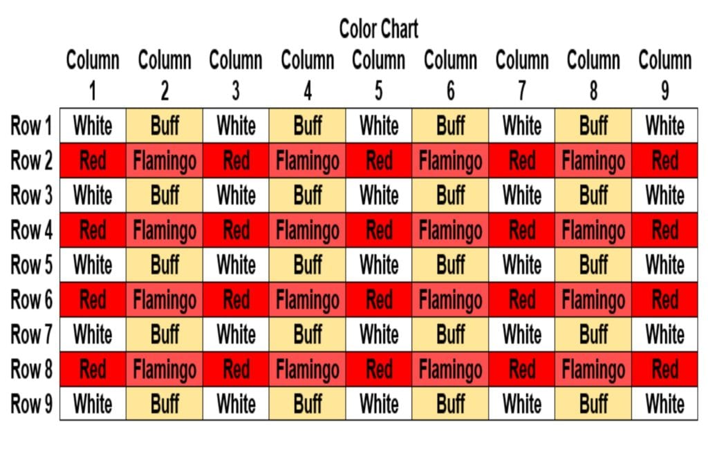 chic colorful granny square throw color chart