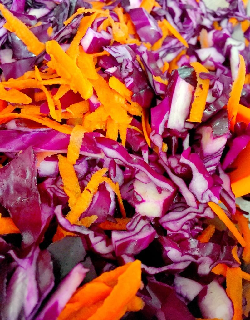 purple cabbage and carrot