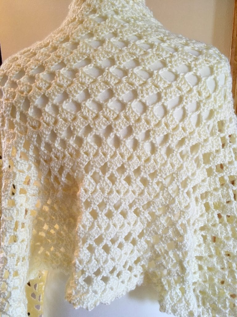 Back View Beautiful Occasions Evening Shawl