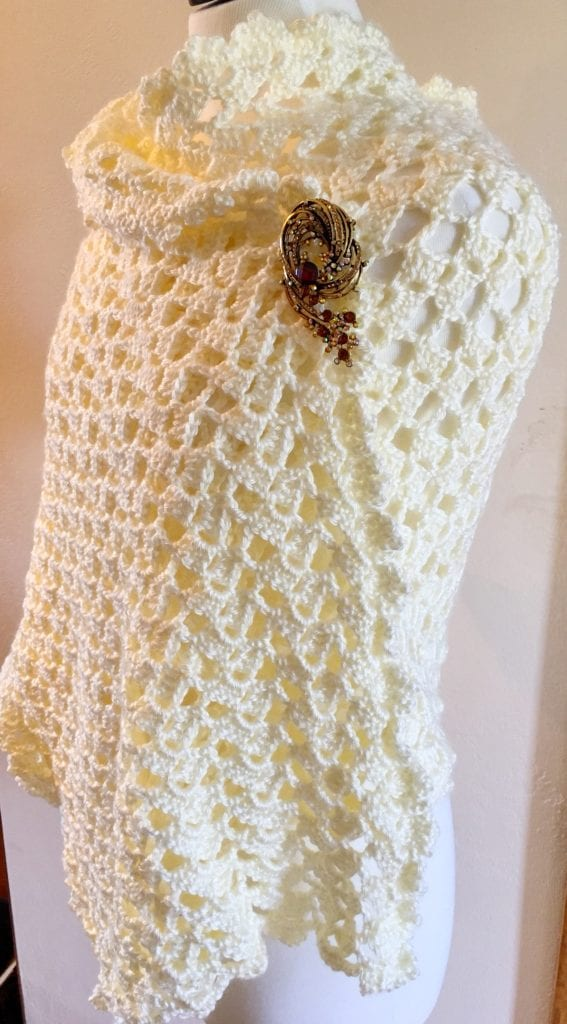 Side View Beautiful Occasions Evening Shawl