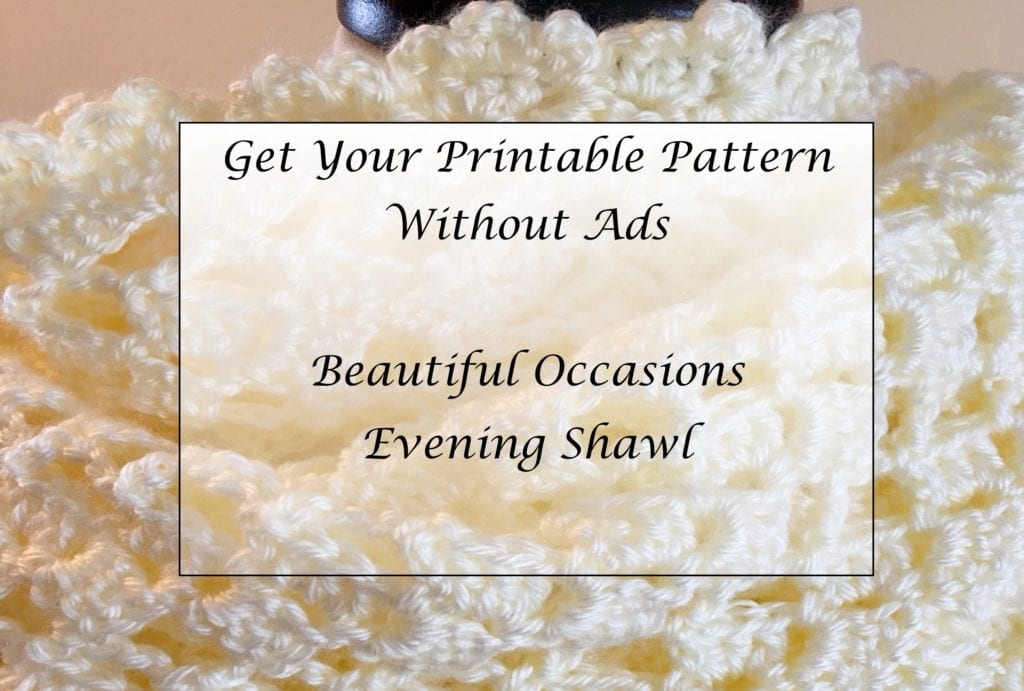 Beautiful Occasions Evening Shawl Printable Pattern