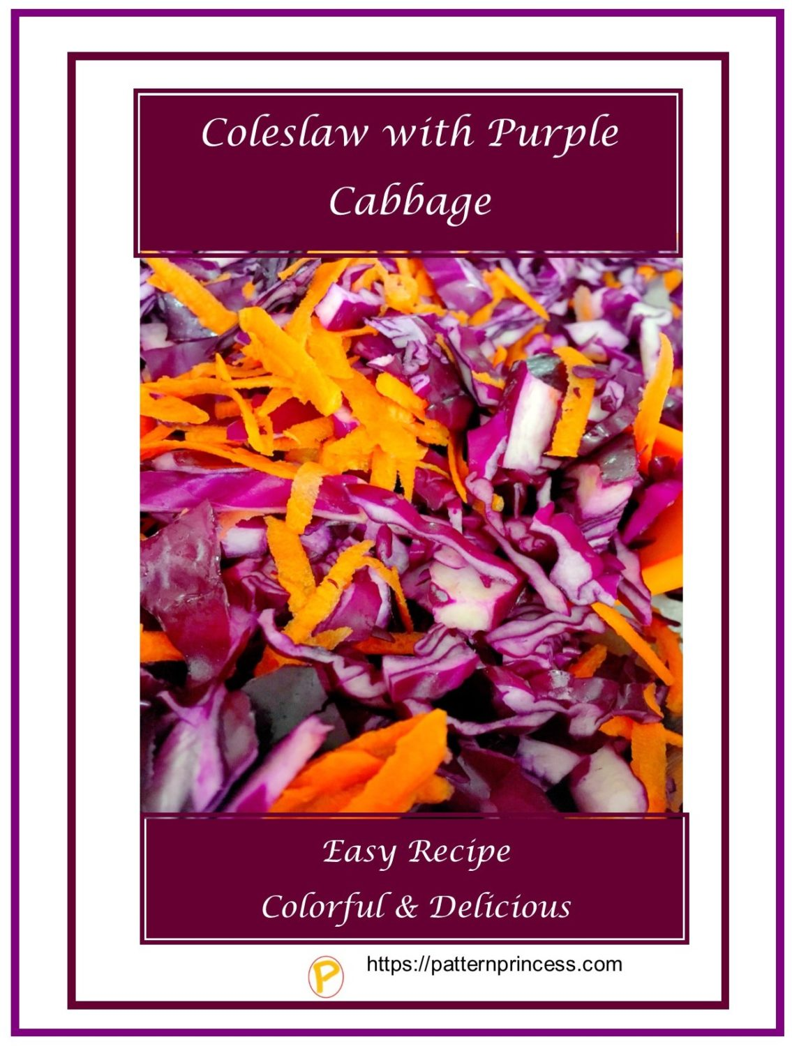 Coleslaw with Purple Cabbage 1