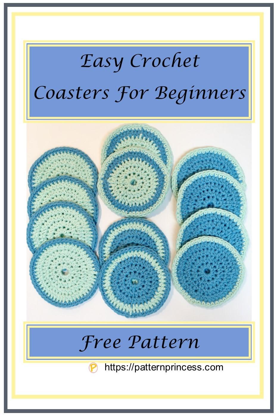 Easy Crochet Coasters for Beginners
