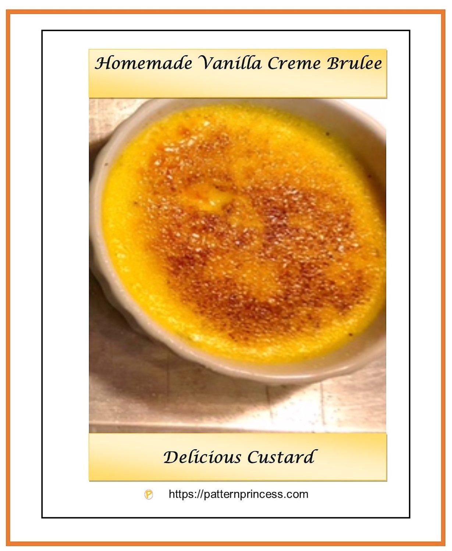 Homemade Vanilla Creme Brulee 1