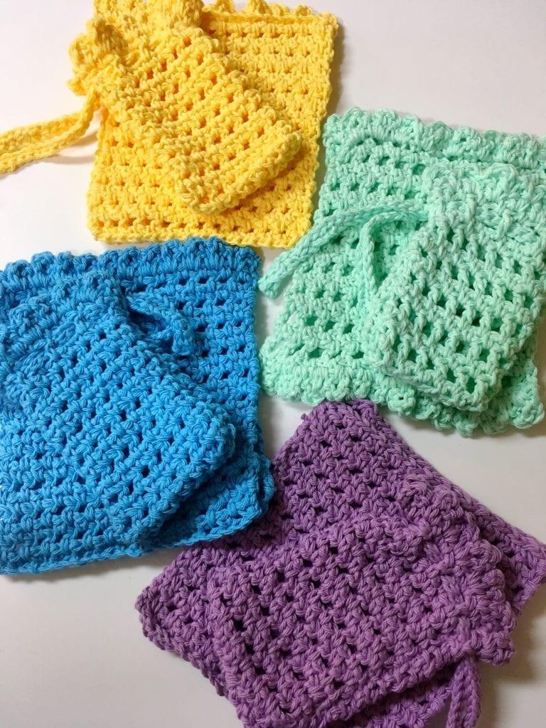 Washcloth and Soap Holder Sets