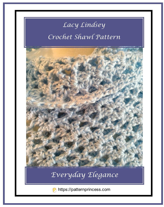 Lacy Lindsey Crochet Shawl Pattern 1