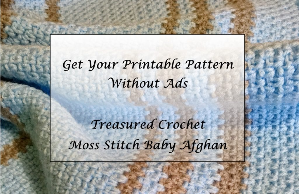 Simple Crochet Moss Stitch Baby Afghan Printable