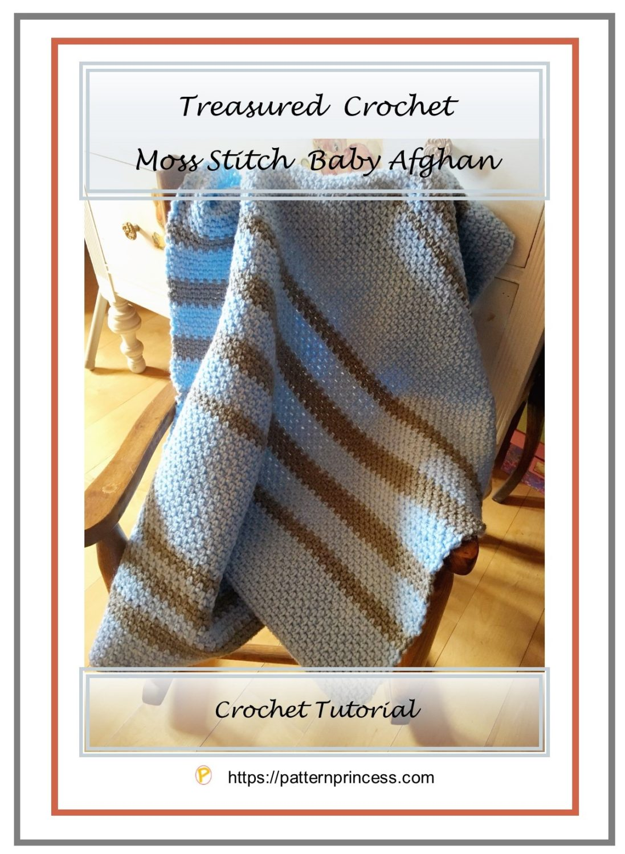 Treasured Crochet Moss Stitch Baby Afghan 1
