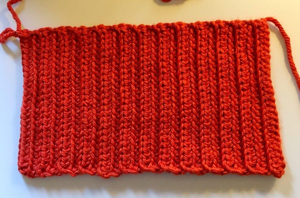 crochet pumpkin rectangle