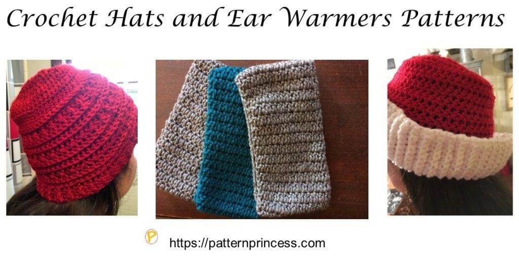 Crochet Hats and Ear Warmers Patterns