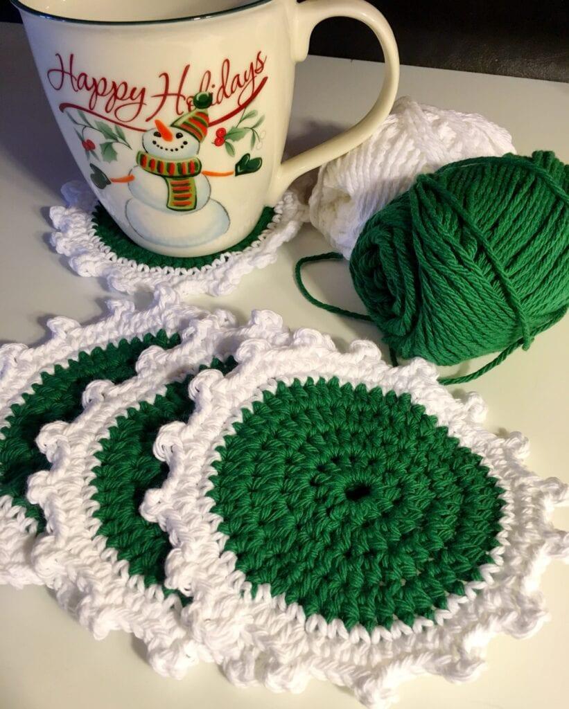 Christmas Coaster Green