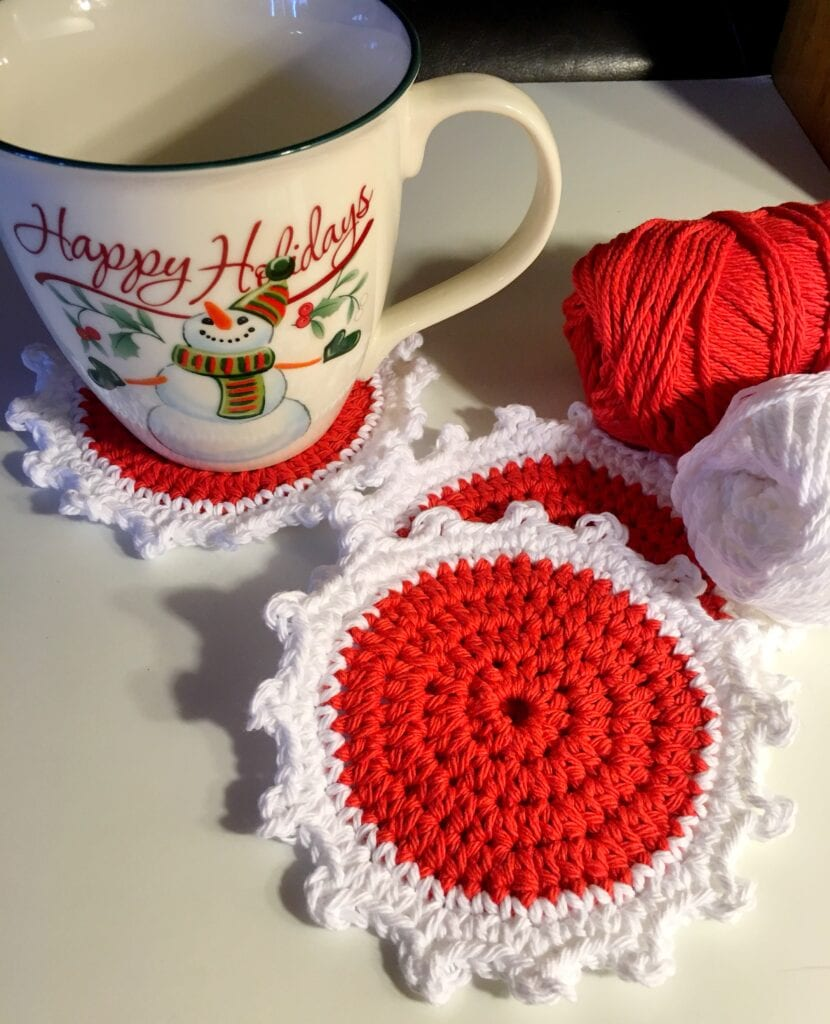 Christmas Coaster Red