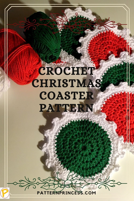 Crochet Christmas Coaster Pattern