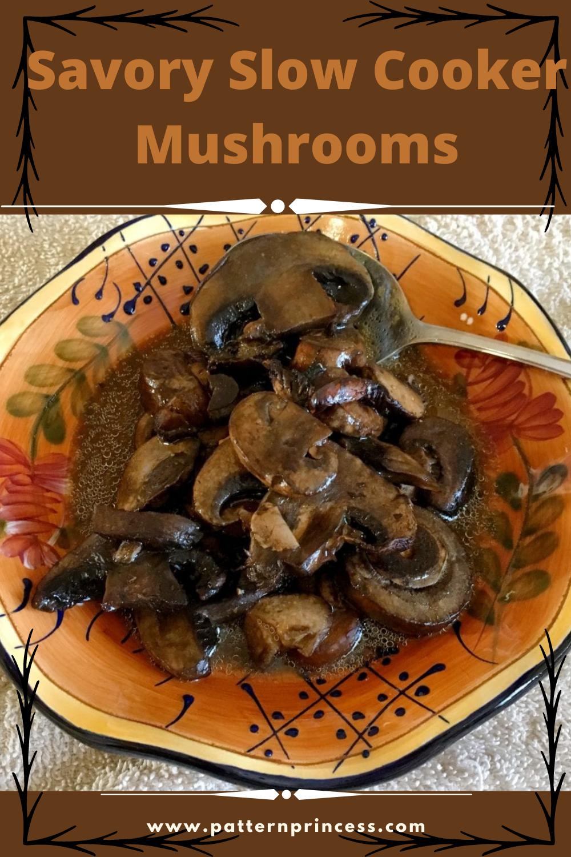 Savory Slow Cooker Mushrooms