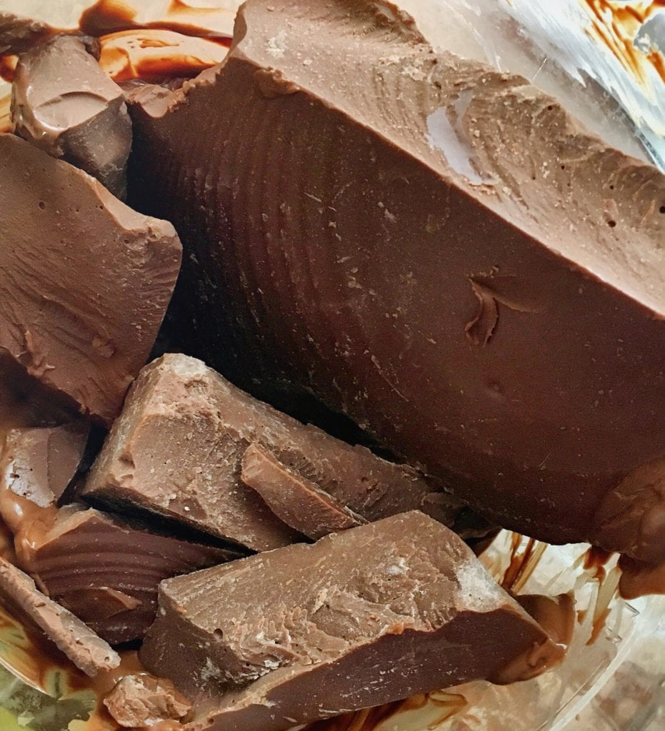 chunks of chocolate for melting