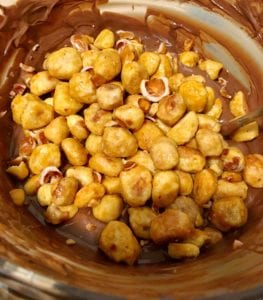 Butter Toffee Peanuts in Melted Chocolate