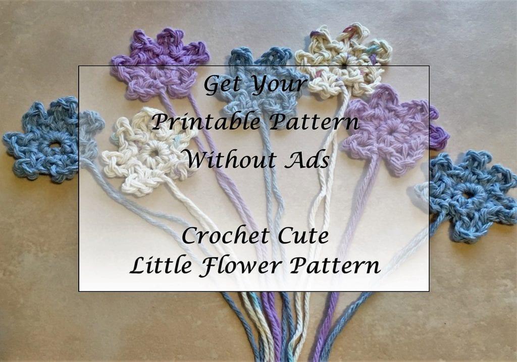 Crochet Cute Little Flower Pattern Printable