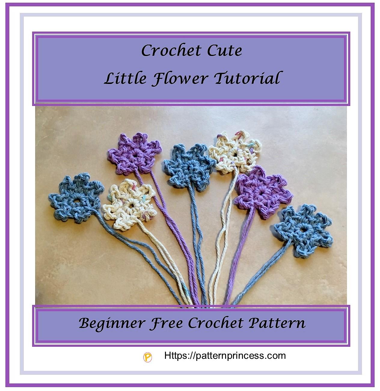 Crochet Cute Little Flower Tutorial 1