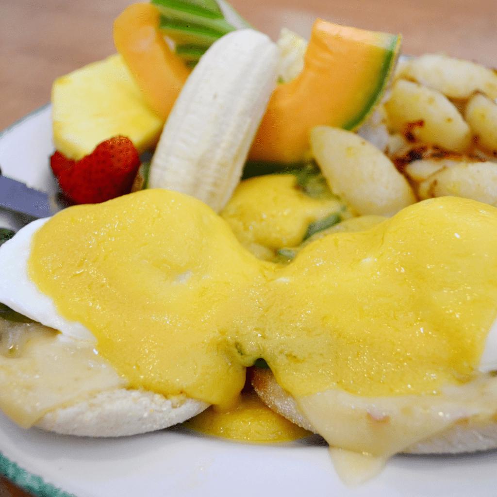 Eggs Benedict with Fresh Fruit