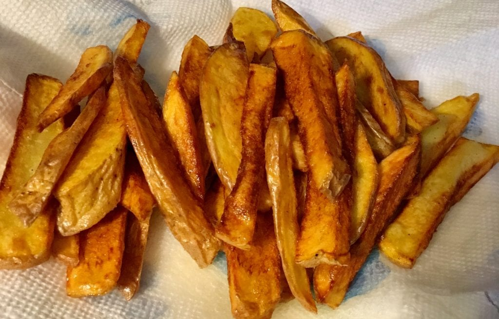 French Fries with Potato Skin on