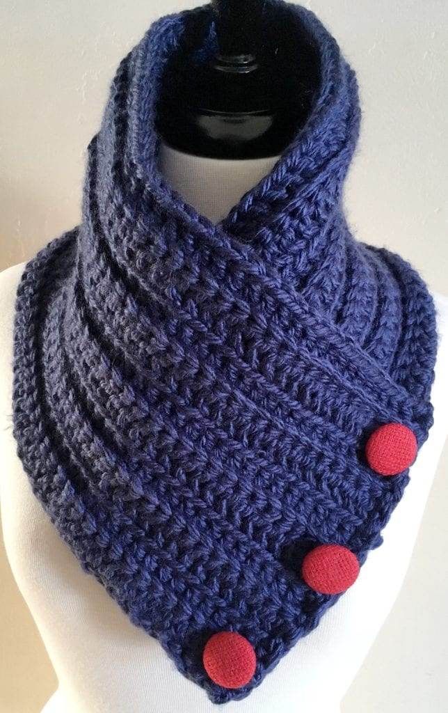 Neck Warmer Without Top Edge Turned Down