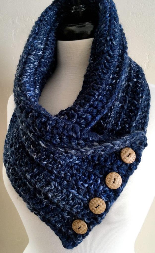 River Run Crochet Chunky Neck Warmer