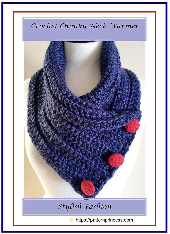 Crochet Chunky Neck Warmer 1