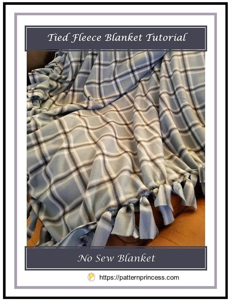 Tied Fleece Blanket Tutorial 1