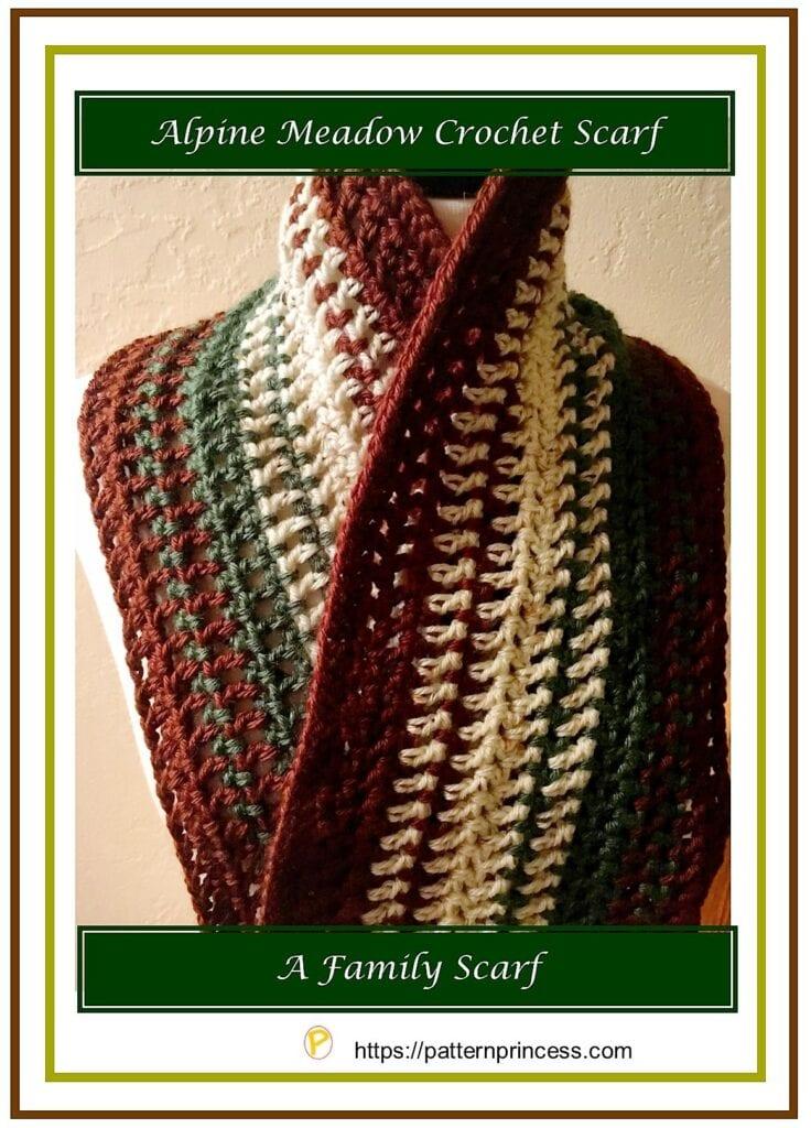 Alpine Meadow Crochet Scarf 1