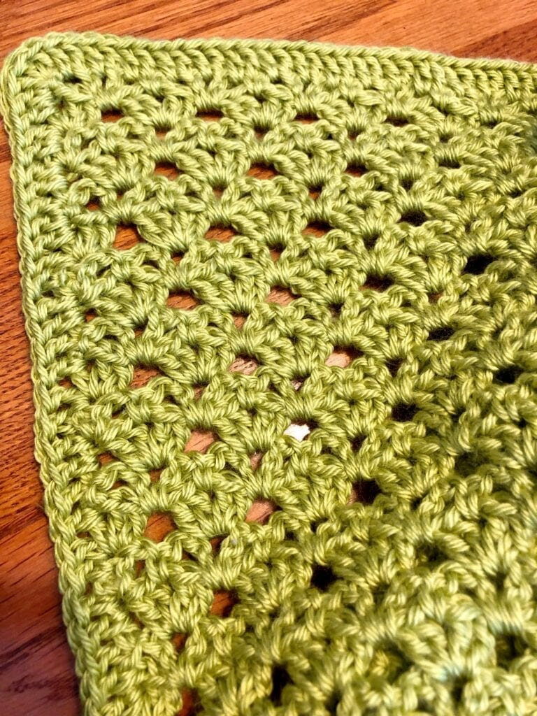 Close up of Stitches in the Soft Shell Crochet Blanket