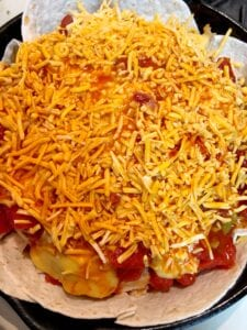 Chicken Bake with Enchilada Sauce and Cheese