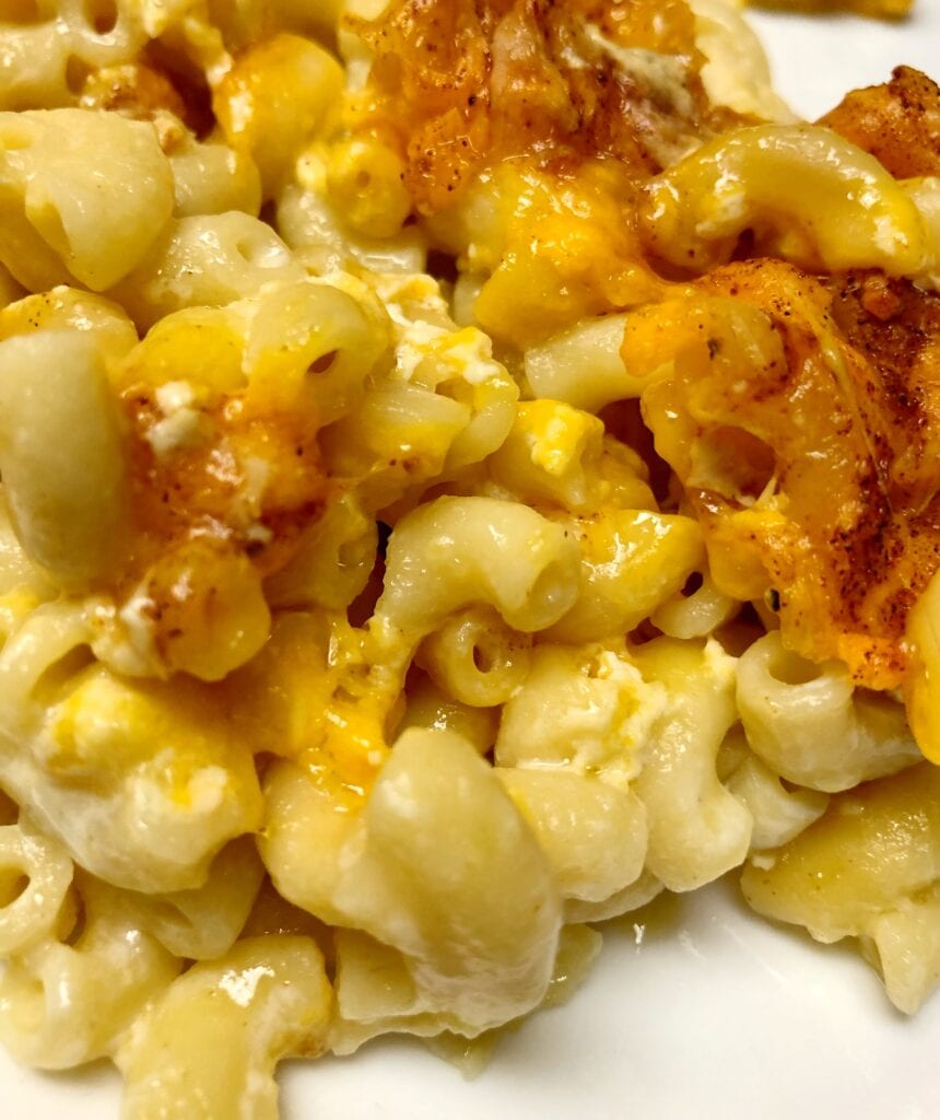 Classic Baked Macaroni and Cheese Served