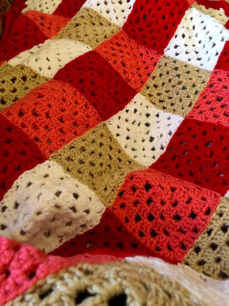 Crochet Blanket on my Lap