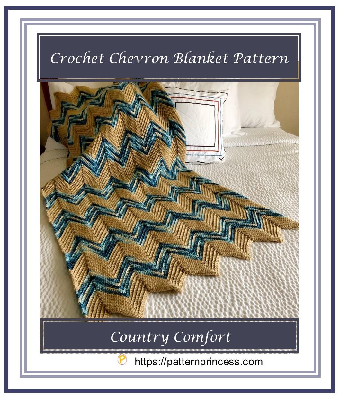 Crochet Chevron Blanket Pattern 1