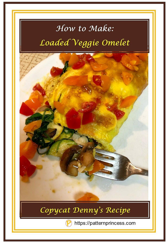 How to Make Loaded Veggie Omelet 1