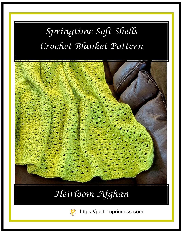 Springtime Soft Shells Crochet Blanket Pattern 1
