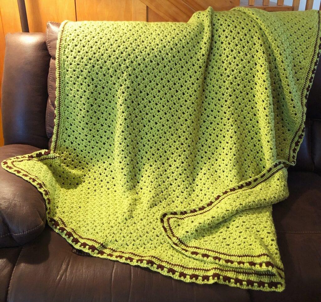 Glorious Springtime Blanket on Sofa