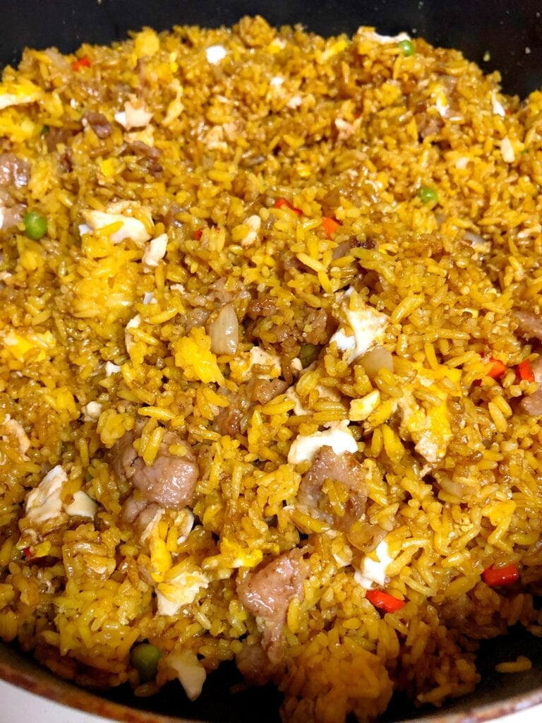 Pork Fried Rice in Pan