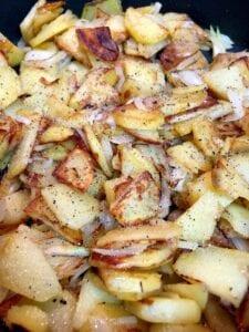 Seasoning home fries