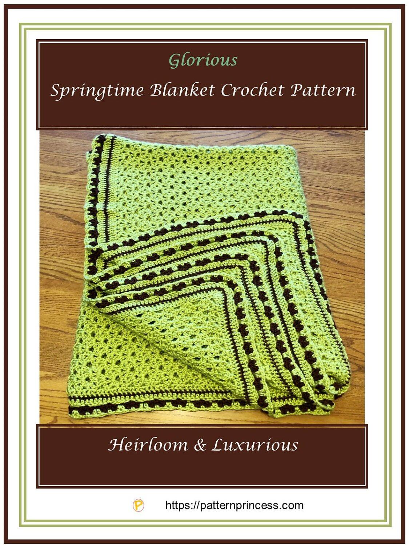 Glorious Springtime Blanket Crochet Pattern 1