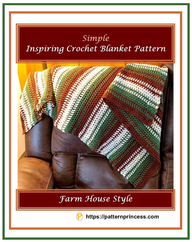 Simple Inspiring Crochet Blanket Pattern 1