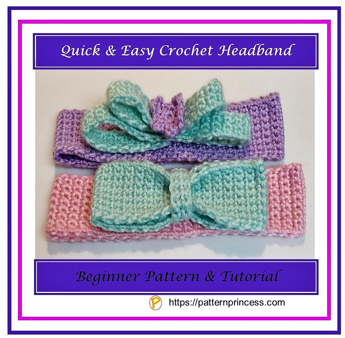 Quick and Easy Crochet Headband 1
