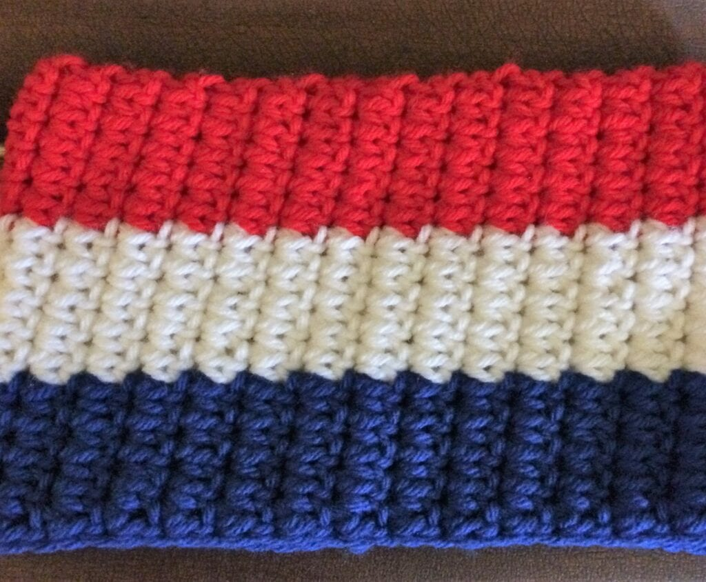 Create Stripes by Alternating Yarn Colors