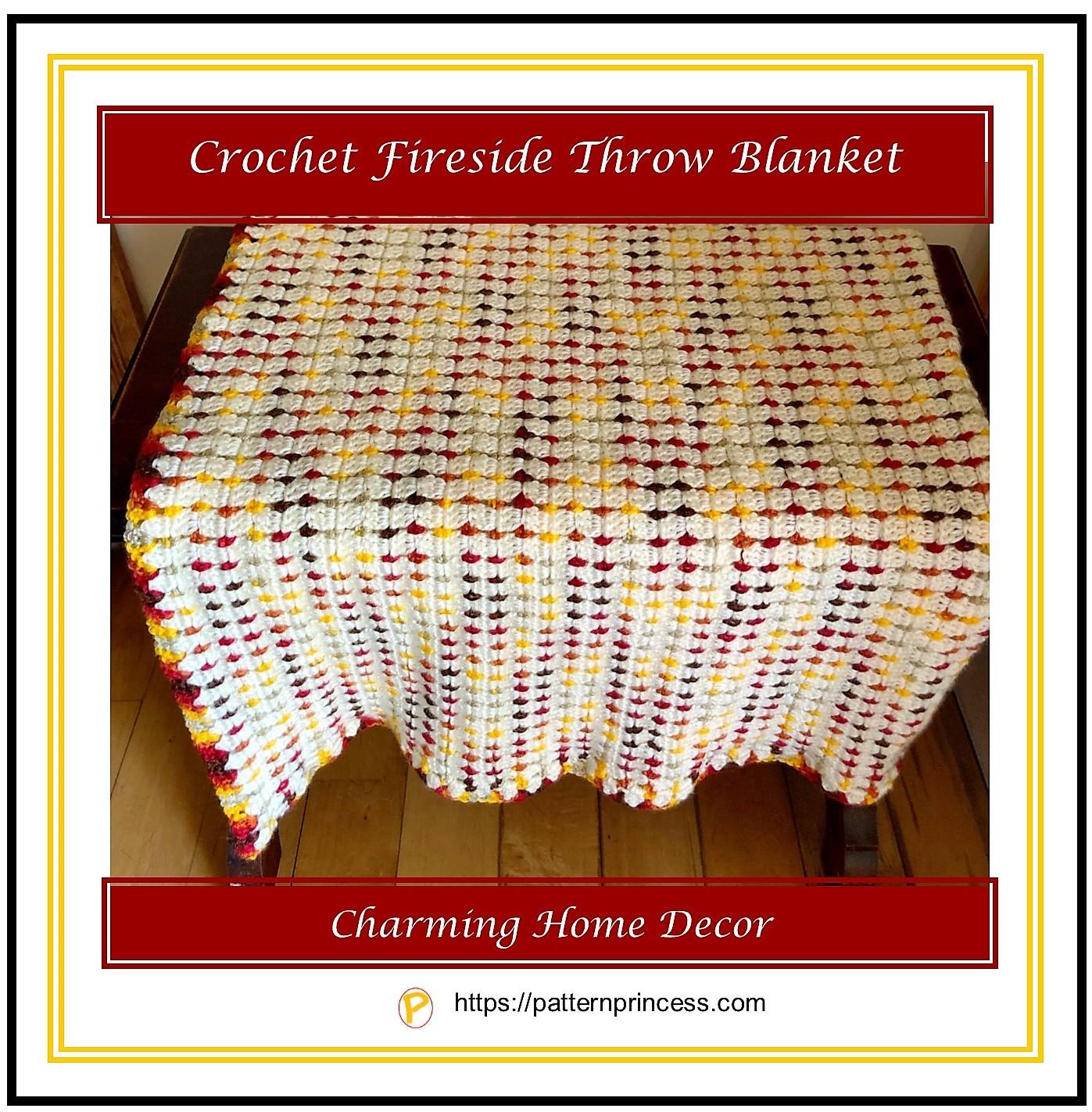 Crochet Fireside Throw Blanket 1